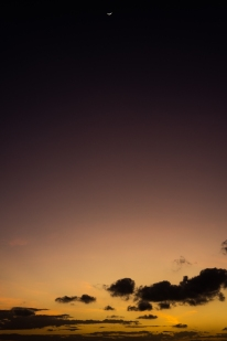 Moon and sunrise. <3